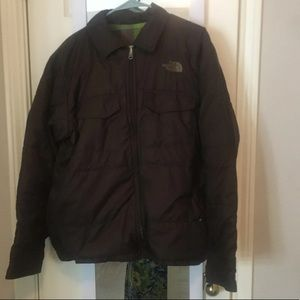 North face jacket with plaid interior